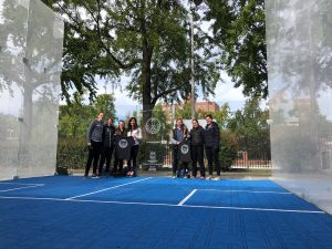 Outdoor court with players