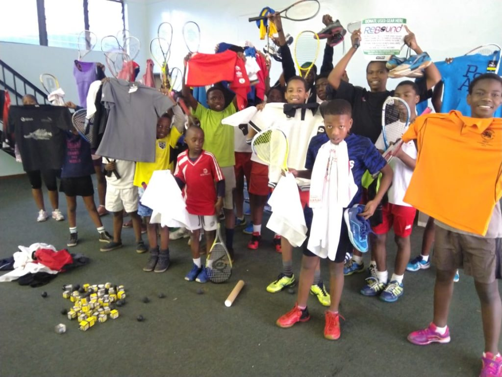 donated squash gear in south africa